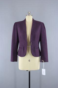 Vintage 1980s Wool Jacket by Margaret Godfrey for Bagatelle