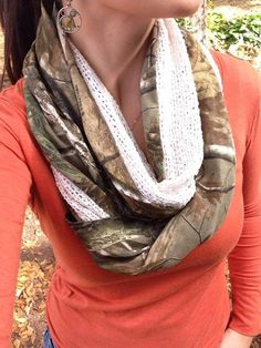 Real Tree Camo Infinity Scarf by SSCbyCrystal on Etsy https://www.etsy.com/listing/168593716/real-tree-camo-infinity-scarf