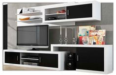 Mueble de salón extensible de estilo moderno disponible en varias tonalidades.