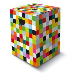 Tabouret carton design - mosaïque  splie facilement et se range à plat  16.90