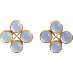 "Mallary Marks Chalcedony ""High Wire"" Stud Earrings"