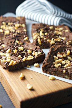 Fudge Walnut Brownies ~vegan, gluten free~ made with chickpeas