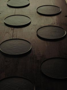 Walnut wooden plates with lacquer coating by kozan, Japan