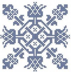 blue cross stitch decoration free embroidery design. Machine embroidery design. www.embroideres.com