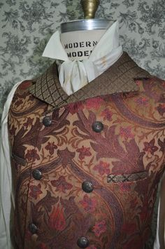 Made To Order/ Custom/ Hand Made/ One Of A Kind--------Men's 1800s Style Victorian/Steampunk Vest---The Pictures In This Listing Are Of Recently Finished Orders (available in chest sizes 30-48 inches) by OnceUponABustle @Etsy $115