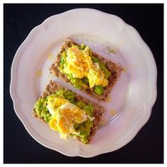 Avacado and Egg Ryvita