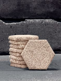 Träullit Dekor is a material fabricated from fibers of wood and cement.