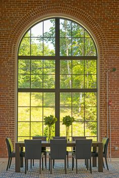 The thoughtful adaptive reuse and restoration of the historic building structure features 57 oversized, modern lofts market-rate units Brick Interior, Interior Walls, Best Interior, Modern Interior, Interior Design, Team Photography, Adaptive Reuse, Building Structure, Modern Glass