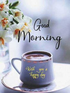 Good Morning Coffee Gif, Good Morning Msg, Good Morning Cards, Good Morning Messages, Good Morning Greetings, Morning Wish, Funny Morning, Good Morning Beautiful Flowers, Good Morning Roses