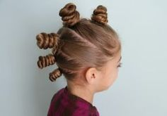 """The """"Bun-Hawk""""... perfect for Crazy Hair Day!"""
