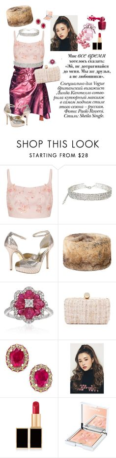 """""""56"""" by jule-8 ❤ liked on Polyvore featuring Animale, Paolo, Prada, Adrianna Papell, DUBARRY, Gregg Ruth, Inge Christopher, Tom Ford and Sisley"""