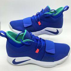 e081b2fd0e41 New Nike PG 2.5 Paul George Racer Blue White Shoes BQ8452-401 Size 10  Fortnite