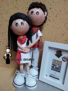 muñecos arlequines en goma eva - Buscar con Google