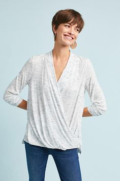 Slide View: 3: Spacedyed Wrap Top