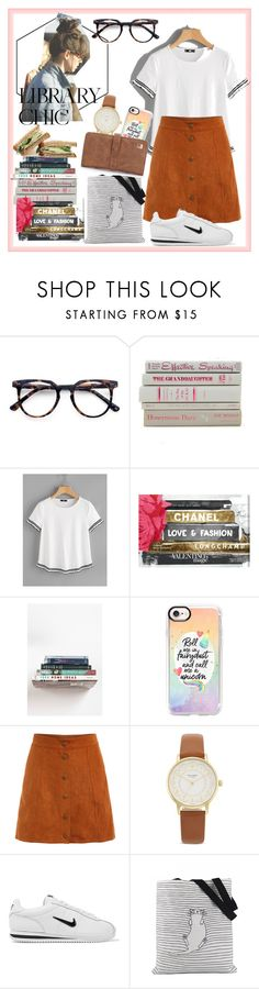 """library chic"" by rindularas on Polyvore featuring Ace, Oliver Gal Artist Co., Urban Outfitters, Casetify, Kate Spade and NIKE"