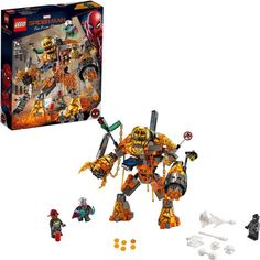 Buy LEGO Super Heroes - Molten Man Battle at Mighty Ape NZ. Play out a metropolis-melting Molten Man vs. Build an awesome fire monster and role-play a thrilling LEGO® Marvel Spider-Man Lego Marvel's Avengers, Lego Marvel Spiderman, Avengers Birthday, Lego Disney, Disney Marvel, Shop Lego, Buy Lego, Captain America, Captain Marvel