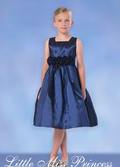 Navy Blue Trista Flower Girl Dress - Girls Navy Blue Dresses... they have one in Yellow too in the Easter section! :) super cute!