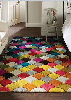 Flair Rugs Spectrum Jive - Tapis à motifs multicolores x Diy Carpet, Modern Carpet, Modern Rugs, Rugs On Carpet, Hall Carpet, Carpet Ideas, Funky Home Decor, Polypropylene Rugs, Machine Made Rugs