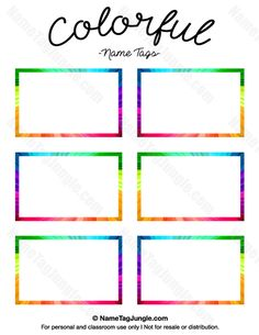 Free printable crayon name tags. The template can also be used for ...