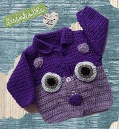 Hooty Owl Handmade Baby Sweater Handmade Crochet Custom Order   susabelledesigns - Clothing on ArtFire