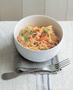 quick & easy - Crab, Chilli, & Basil Linguini