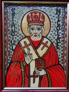 Icoane pe Sticla Jesus Christ Images, Biblical Art, Saint Nicholas, Orthodox Icons, Porsche Logo, Spiderman, Christian, Superhero, Logos