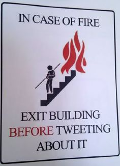 A sign for modern times...
