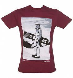 Men's Dark Red Star Wars Snow Trooper T-Shirt from Chunk