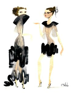 toledo.--- Always has been my favorite fashion illustrator. I strive to get my ladies up to this level. So classy and quirky.