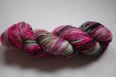 Aran - 100% British Bluefaced Leicester (superwash) yarn - Pink Iris by OxfordKitchenYarns