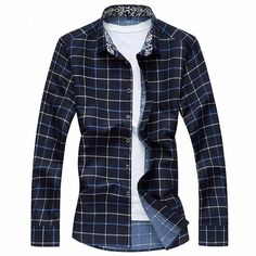 Fabric Material:45%Cotton+55%Polyester Lining Material: Cotton Closure Type:Single Breasted Collar: Turn-down Collar Fit Type: Slim Fit Decoration: Plaid Thickness:Standard Color: Blue, Red, Navy Blue, White Occasion:Casual, FashionSeason:Spring,Autumn, Winter Tag Size: L, XL, 2XL, 3XL, 4XL, 5XL,6XL, 7XL Package included: 1*Shirt Please Note:  1.Please see the Size Reference to find the correct size.