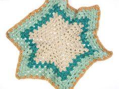 Crochet hexagon jacket--free pattern from Make and Do Crew using Lion Brand New Basic 175 yarn.