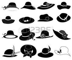 Resultado de imagen de dibujos para colorear bolsos señora Dibujos De  Sombreros cf2db9b2042