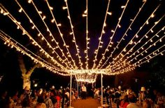 Outdoor fairy light draping decor wowness