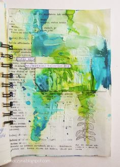 Czekoczyna Blog by Kasia Krzyminska | color  gesso washes, text ... a bit of doodling = major impact