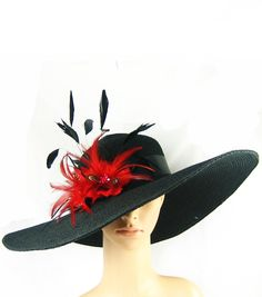 Derby Hat ,Black Church Hat, Dressy Hat ,Formal Hat, Wedding Hat, Kentucky Derby Hat,Special Occasion. $69.97, via Etsy.