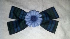 Blue green plaid hair bow by ElegantHairbow on Etsy, $3.00