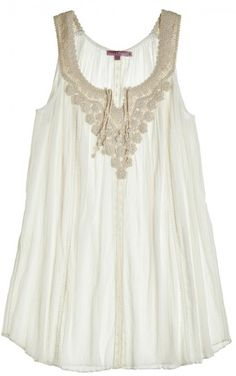 Romance your warm weather wardrobe with an ethereal cotton gauze tunic.