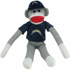San Diego Chargers Uniform Sock Monkey