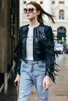 Fringe leather jacket? Yes please!