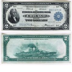 Currency-$2.00 Chicago Note Note 1914