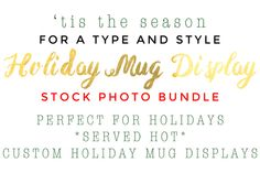 Styled Holiday Mug Display Photo by Type & Style on Creative Market