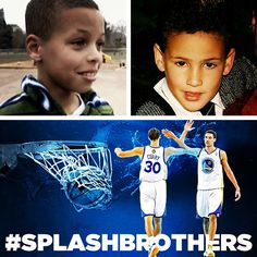 The Splash Brothers (Klay Thompson and Steph Curry were about this old the last time the Warriors beat the San Antonio at Home). Basketball Memes, Love And Basketball, Sports Memes, Basketball Players, Basketball Stuff, Basketball Party, Nba Memes, Sports Pics, Stephen Curry Family