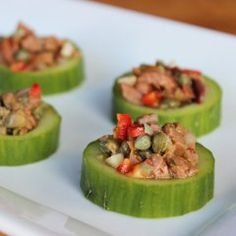 Snack Smarter: Low-Cal Cucumber Cups With Spicy Tapenade