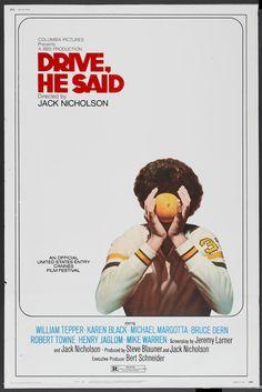 Drive, He Said (Jack Nicholson, 1971) US one sheet design