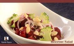 ‪#‎FridayRecipe‬ Beetroot Salad is a wonderful way to stay ‪#‎healthy‬ .  Here is the recipe. ‪#‎harishshetty‬ Ingredients: - Beetroot - 200 grams Peanut curd - 3 tbspn Lemon juice - ½ tspn Jaggery - ½ tspn Chat masala - ¼ tspn Jeera powder - ½ tspn Salt to taste Method: - Steam the beetroot for 3 min then cool it. Make the dressing with peanut curd dressing (Lemon, Jaggery, chat masala, jeera powder & salt) & add it to the beetroot and  mix it well.