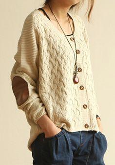 Loose Sweater, Sweater Coats, Long Sleeve Sweater, Cardigan Sweaters, Winter Cardigan, Knitting Sweaters, Comfy Sweater, Beige Cardigan, Oversized Cardigan