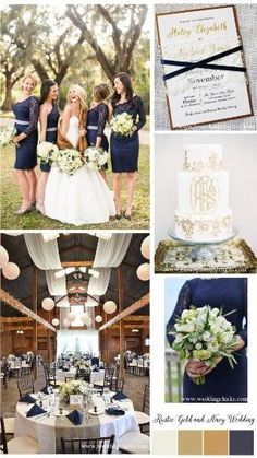 Navy and Gold Wedding Inspiration, Gold Wedding Invitations, Wedding Invitations by LoveofCreating #Wedding Ideas by Maria CS