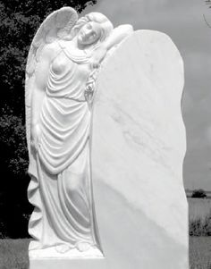 Gravestone with an angel Grave Plaques, Head Stone, Carving, Sculpture, Craftsman Houses, Grief, Marble, Angel, Stones