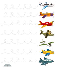 plane trace line worksheet | Crafts and Worksheets for Preschool,Toddler and Kindergarten